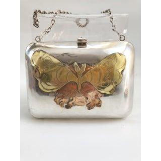 Sterling Silver French Ladies Vintage Art Nouveau Handbag Purse Preview