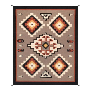 "Pasargad Navajo Style Hand Woven Wool Rug - 8' 3"" X 9'11"" For Sale"