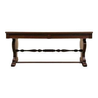 Vintage 1925 Italian Renaissance Style Trestle Sofa Table For Sale