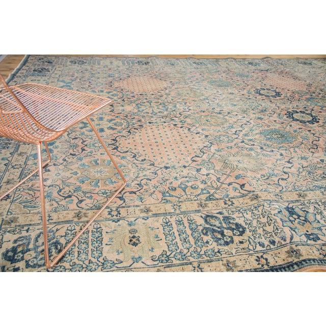 "Vintage Kashan Carpet - 10'1"" X 14'2"" For Sale In New York - Image 6 of 11"