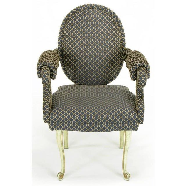 Four Louis Modern Custom Dining Armchairs - Image 2 of 9