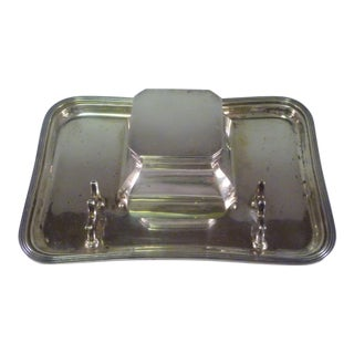 1920s Art Deco Renown Goldsmiths & Silversmiths CoSterling Silver Inkstand For Sale