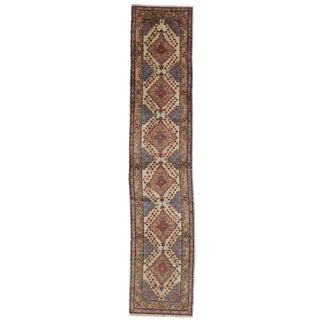 Vintage Turkish Oushak Carpet Runner, Narrow Hallway Runner