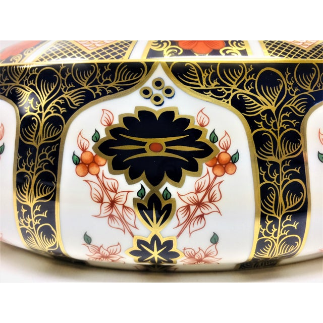 Royal Crown Derby Covered Vegetable Dish in Old Imari Pattern For Sale - Image 6 of 12
