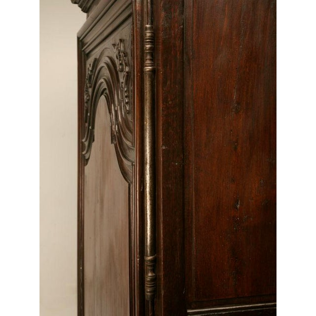 Exquisite 17th C. Hand-Carved French Louis XIV Bonnetiere/Armoire For Sale - Image 9 of 11