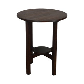 Antique Mission Oak Round Side Table - Possibly Stickley For Sale