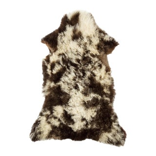 "Long Wool Sheepskin Pelt, Handmade Rug 2'3""x3'3"" For Sale"