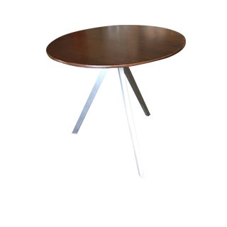 Tripod Leg Side Table With Round Knife Edge Top For Sale