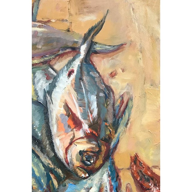 Nancy T. Van Ness Crawfish Original Framed Oil Painting For Sale In Saint Louis - Image 6 of 13