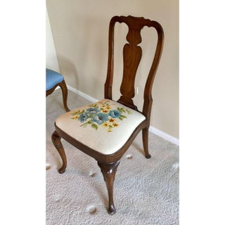 Kindel Furniture Needlepoint Accent Desk Chair Preview