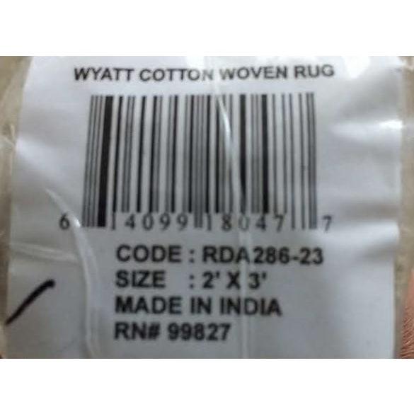 Dash & Albert Wyatt Cotton Woven Rug - 2′ × 3′ For Sale - Image 4 of 7
