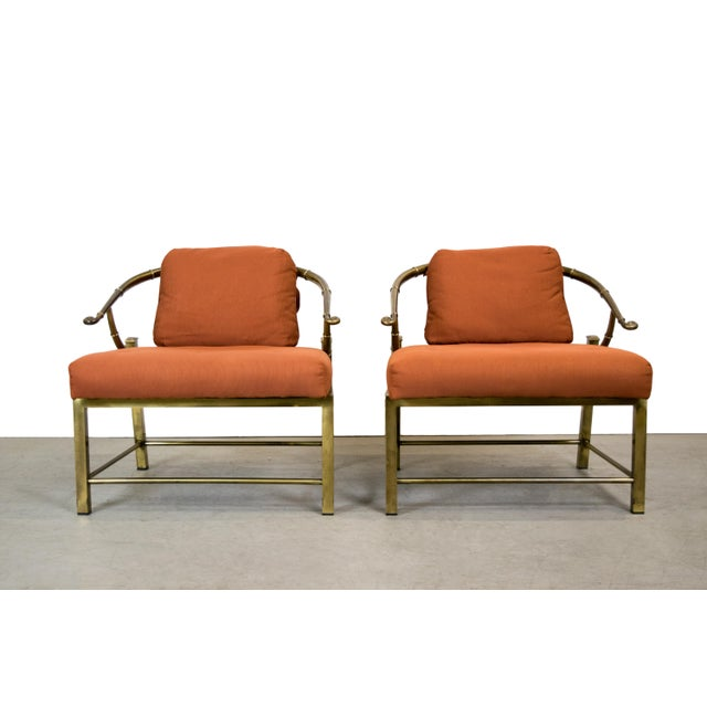 Brass Lounge Chairs by Mastercraft - Pair - Image 9 of 10