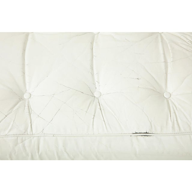 Brazilian Sofa in Jacaranda and White Leather For Sale - Image 12 of 13
