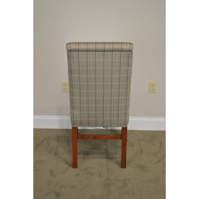 Stickley 21st Century Collection Set of 6 Cherry Upholstered Dining Chairs For Sale - Image 10 of 13