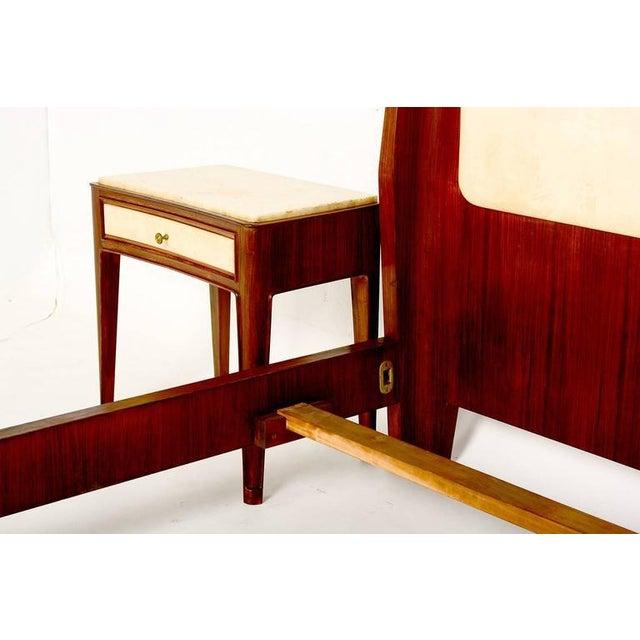 Metal Italian Parchment & Walnut Queen Bedroom Set For Sale - Image 7 of 9