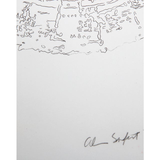 Lithograph, signed and numbered in pencil, by American artist Alan Sonfist. Artist: Alan Sonfist, American (1946 - )...