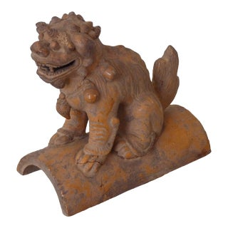 Antique Chinese Ceramic Lion Roof Tile For Sale