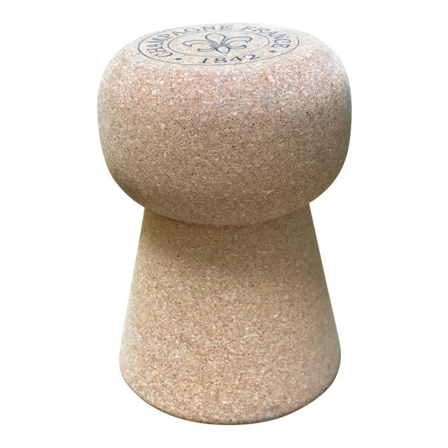 Champagne Cork Side Table For Sale