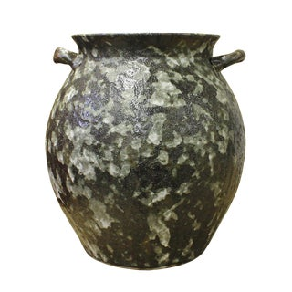 Ceramic Rough Gray Dimensional Marks Vase Jar cs2616