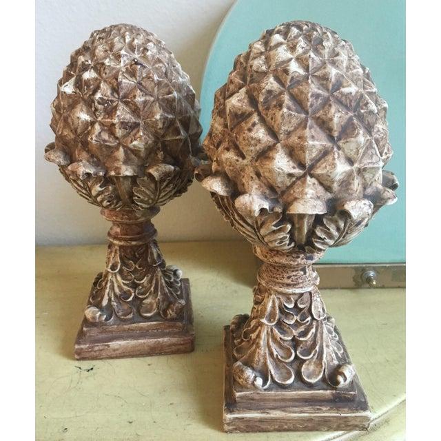 Tall Victorian Artichoke Finials - a Pair - Image 3 of 5