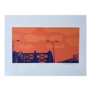 """""""Scenic Route"""" Contemporary Serigraph by Hiroshi Ariyama For Sale"""