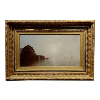 "John Bunyan Bristol ""Fog Over Long Island Ny"" Oil Painting, 19th Century For Sale"