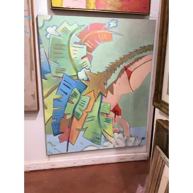 """Michael Vollbrecht """"Pastel Diver"""" Painting For Sale - Image 9 of 11"""