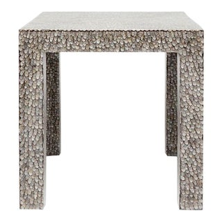 Contemporary Made Goods Vertagus Shell Inlay Parsons Side Table For Sale