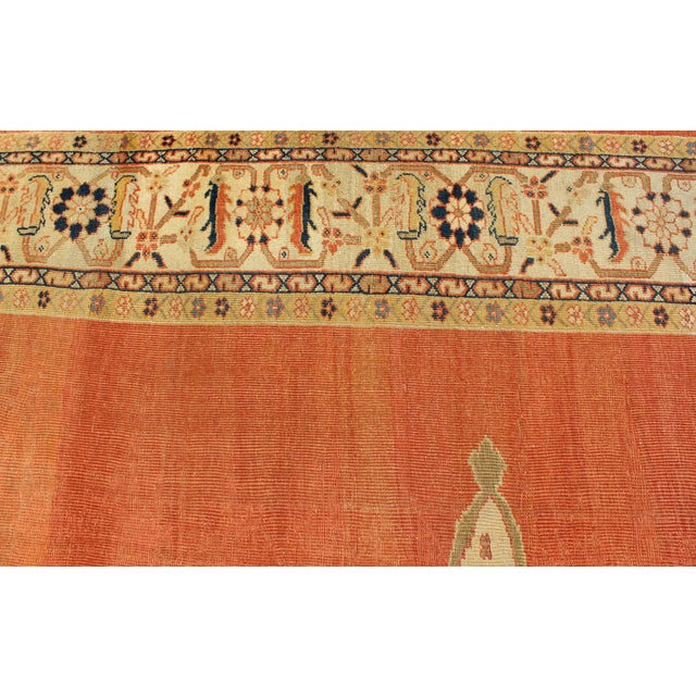 Keivan Woven Arts, E-1207, Late 19th Century Antique Ziegler Sultanabad Rug - 10′2″ × 14′5″ For Sale - Image 9 of 10