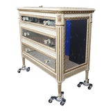 Image of 20th Century Louis XVI Style Mirrored Chest of Drawers For Sale