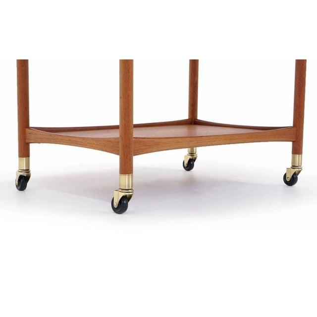 Danish Modern Drop Leaf Teak Serving Cart For Sale - Image 10 of 10