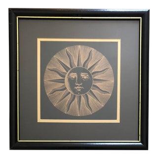Vintage Fornaseti Sun Print For Sale