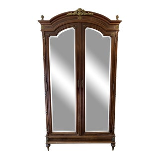Monumental Antique French Armoire For Sale