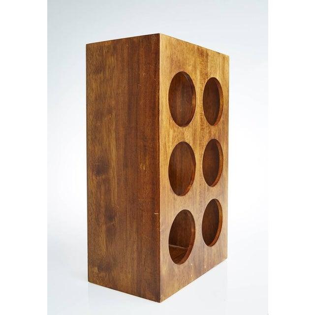 Sculptural Modern Walnut Magazine Rack - Image 3 of 6