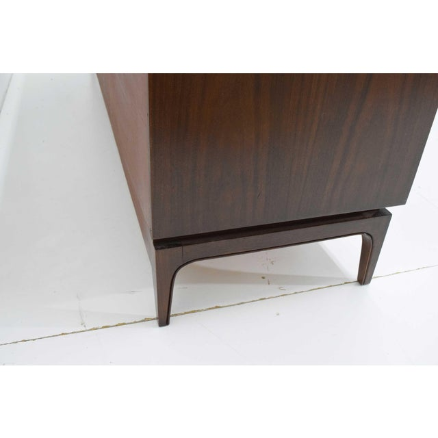 Mid-Century Modern Walnut Sculpted Sideboard For Sale In Dallas - Image 6 of 11