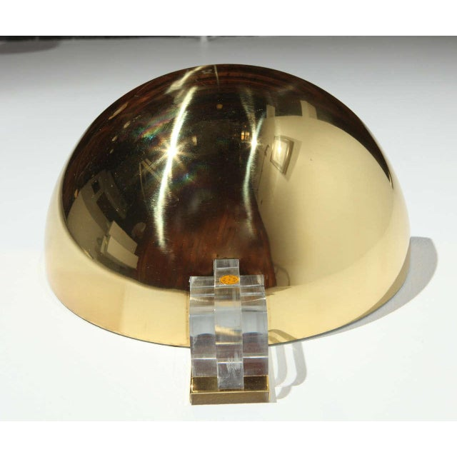 1970s Brass & Lucite Italian Sconces - a Pair For Sale In Los Angeles - Image 6 of 9