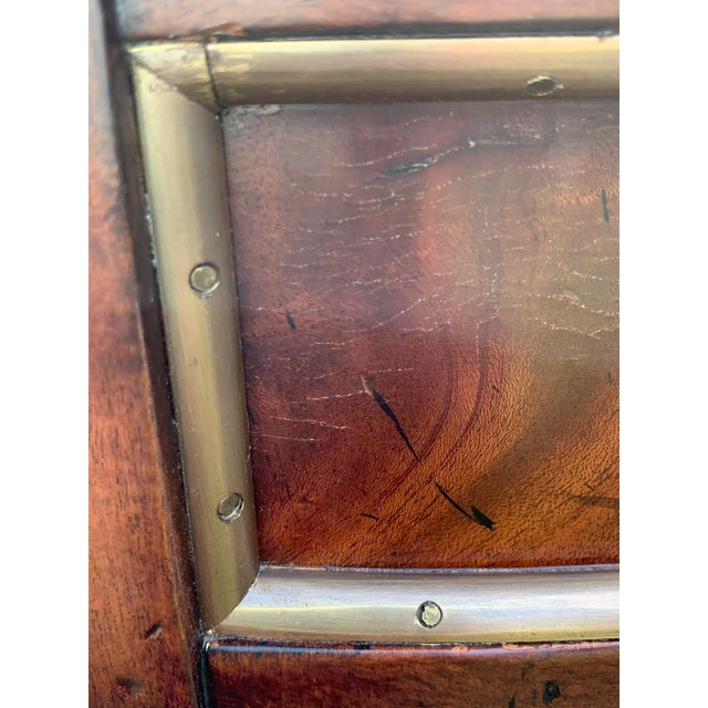 Brown Crotch Mahogany Demilune Game Tables -A Pair For Sale - Image 8 of 13