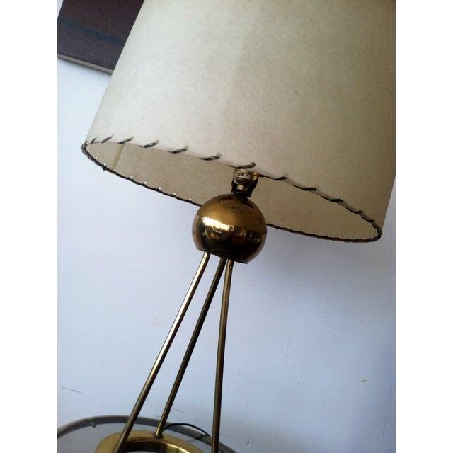Mid-Century Modern Walter von Nessen Tripod Brass Lamp For Sale - Image 3 of 8