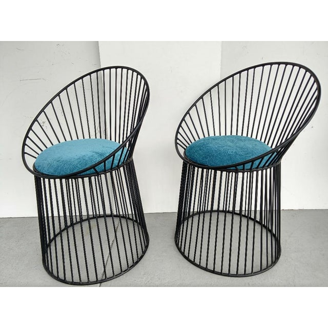 Admirable Platner Styled Metal Accent Chairs A Pair Gamerscity Chair Design For Home Gamerscityorg