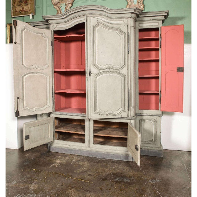 18th Century French Louis XIV Painted Buffet Deux Corps - Image 3 of 10
