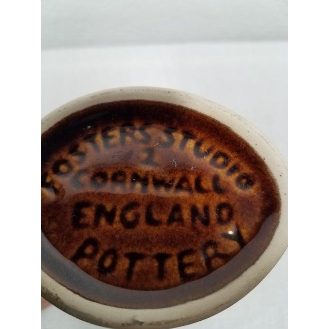 Vintage Brown Fosters Studio Pottery Gurgling Jug or Vase For Sale - Image 9 of 10