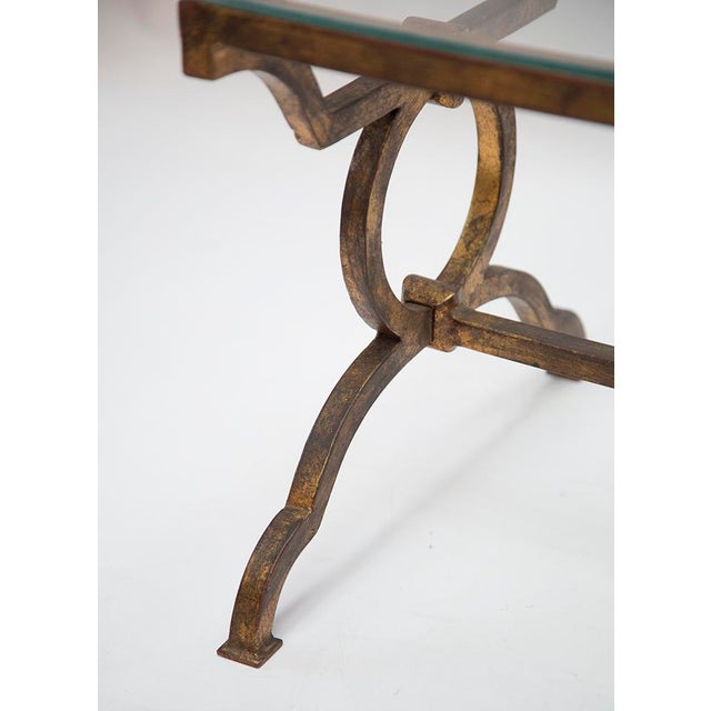 French Mid-Century Gilt Iron Coffee Table - Image 5 of 6
