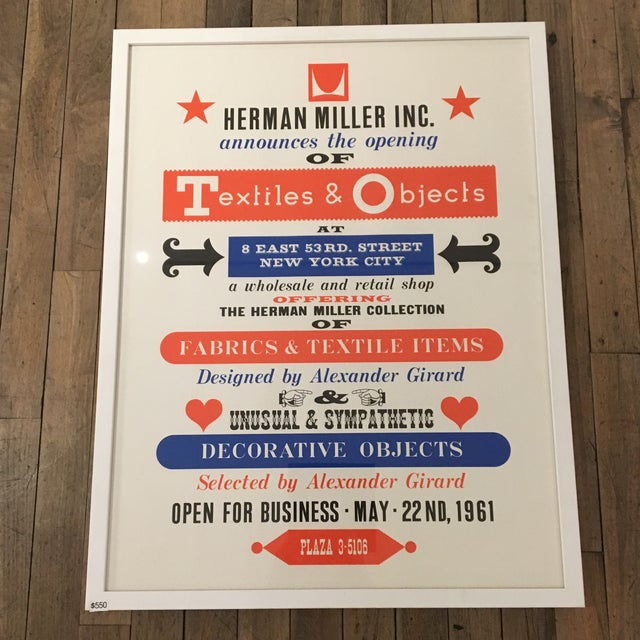 Herman Miller reissue of the classic print. Bright and super graphic! Frame included.