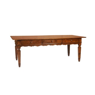 Italian Walnut & Pine Farm House Table For Sale