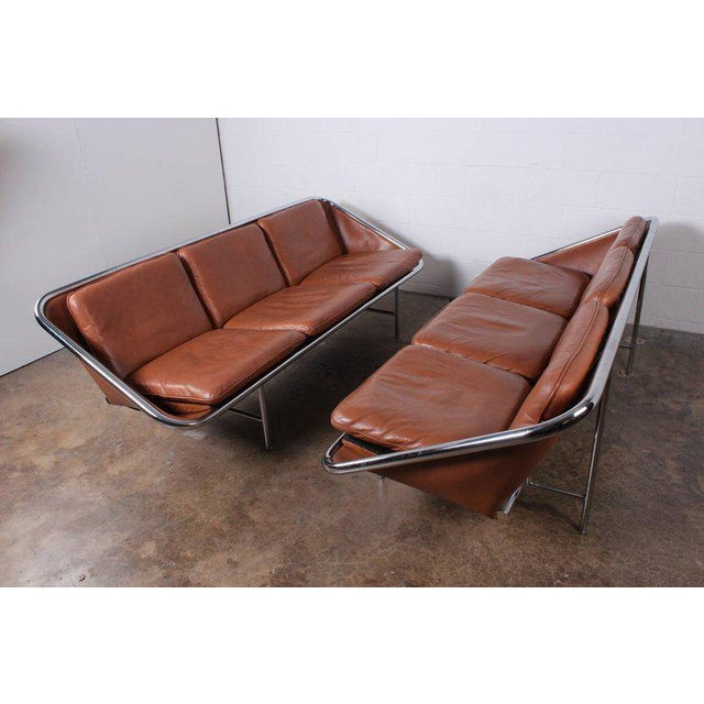 Pair of Sling Sofas by George Nelson For Sale - Image 9 of 10
