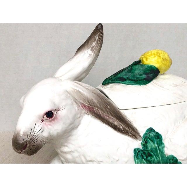 Figurative Late 20th Century Italian Vintage Bunny Lidded Tureen. For Sale - Image 3 of 13