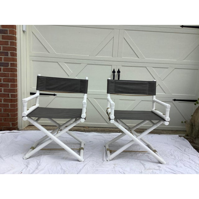McGuire Directors Chairs, 2 For Sale - Image 11 of 11