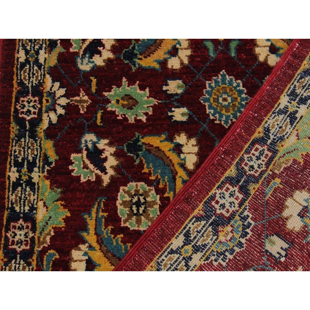 Textile Ewa Red Hand-Knotted Wool Rug - 2'7 X 9'7 For Sale - Image 7 of 8