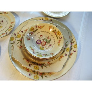 Mid 20th Century Paden Pottery Antique Dishes Buttercup Pattern Shabby Chic - Set of 17 Preview