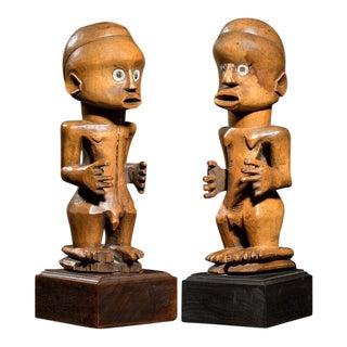 """Nsapo-Nsapo"" Male and Female figure , ca. 19 For Sale"
